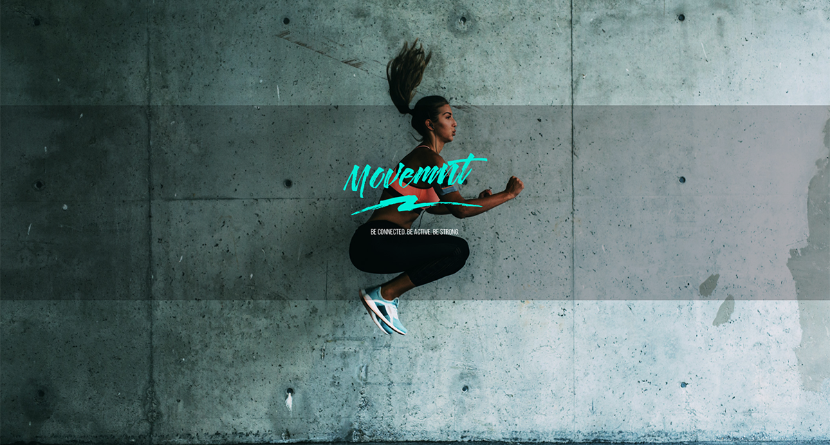 movemnt brand image - woman jumping in active wear